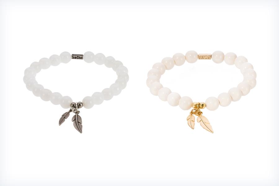 Eleganckie bransoletki z klasycznych białych pereł