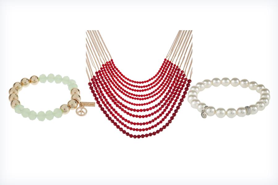 Biżuteria z perłami - naszyjnik i bransoletki