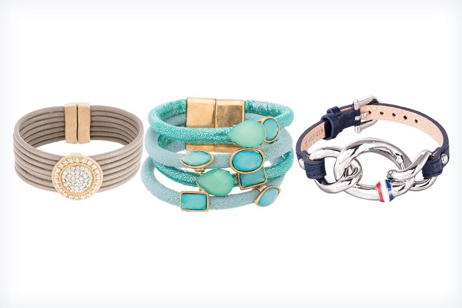 Trzy młodzieżowe bransoletki na rękę