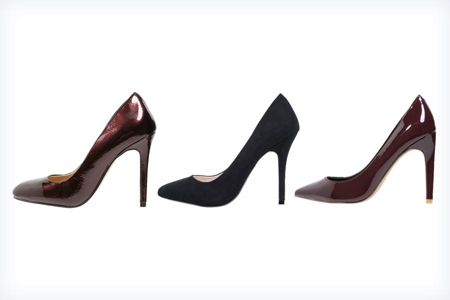 Damskie buty pasujące do szarej sukienki