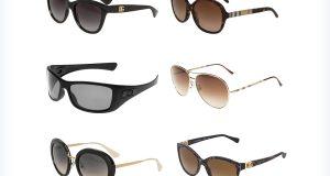 Markowe ciemne okulary przeciwsłoneczne