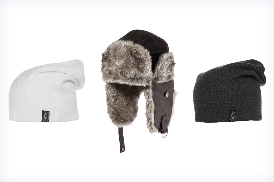 Markowe czapki do sportowej kurtki