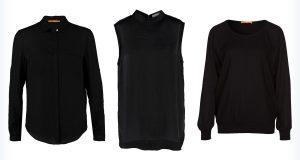 Markowe czarne bluzki