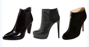 Eleganckie damskie czarne botki