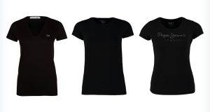 Młodzieżowe czarne koszulki