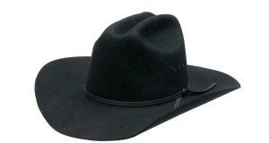 Duży damski czarny kapelusz