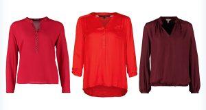 Trzy czerwone bluzki