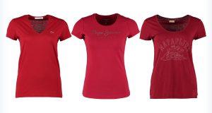 Damskie czerwone koszulki