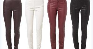 Cztery pary modnych i wygodnych spodni skórzanych