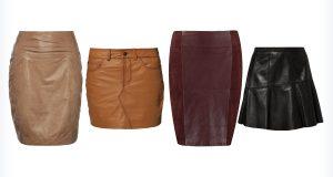 Cztery modne spódnice skórzane