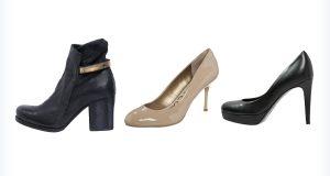 Trzy modne buty na obcasie