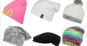 Damskie zimowe czapki