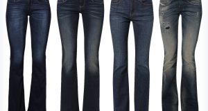 Cztery pary jeansów bootcut