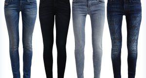 Modne damskie jeansy slim fit