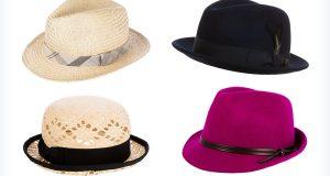 Gustowne, damskie kapelusze przeciwsłoneczne