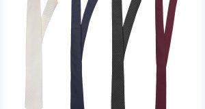 Cztery kolorowe damskie krawaty