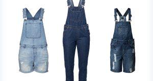 Jeansowe damskie ogrodniczki