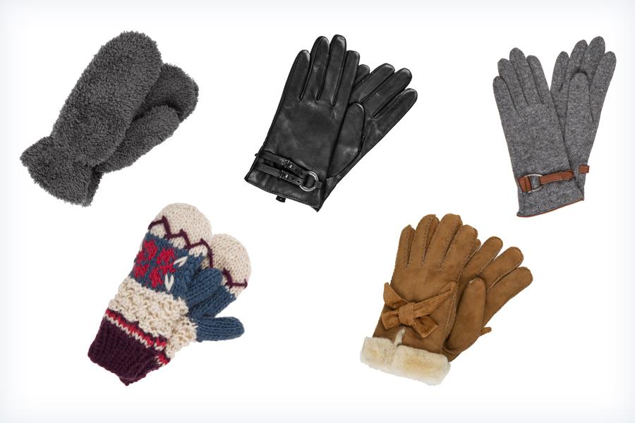 Ciepłe damskie rękawiczki zimowe