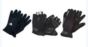Czarne damskie rękawiczki rowerowe
