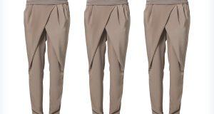 Materiałowe spodnie khaki