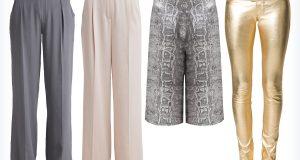 Modne damskie spodnie na Sylwestra