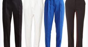 Cztery pary spodni w kant