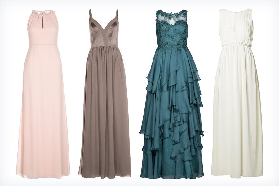 Eleganckie kolorowe długie suknie wieczorowe