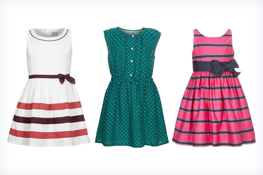 Kolorowe sukieneczki dla dziewczynek na wesele