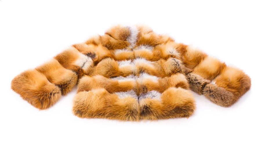 Brązowa futrzana kurtka