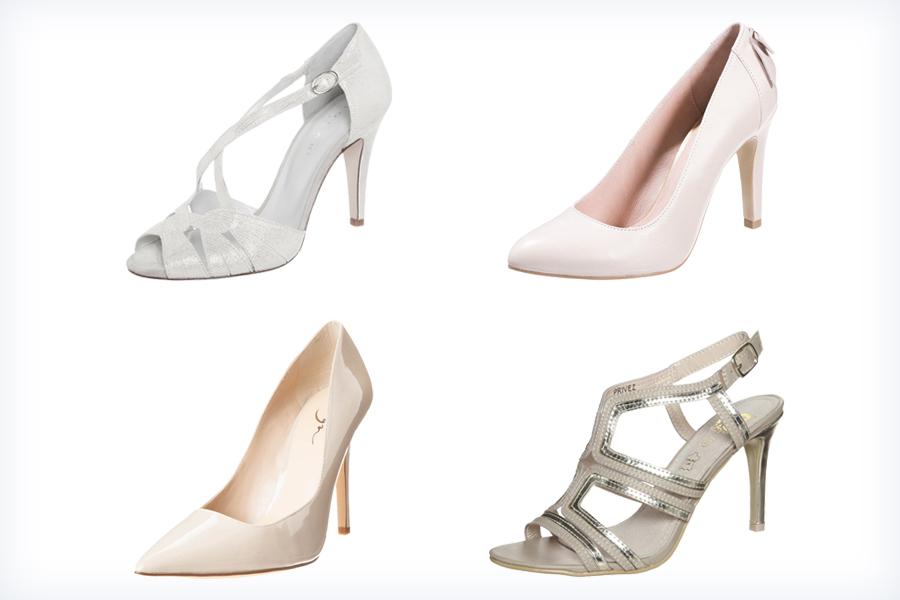 Jasne klasyczne buty do ślubu