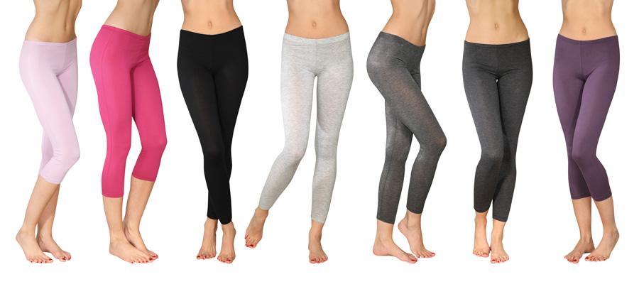 Różnokolorowe damskie legginsy