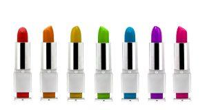 Różnokolorowe szminki do ust