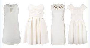 Letnie, krótkie markowe białe sukienki
