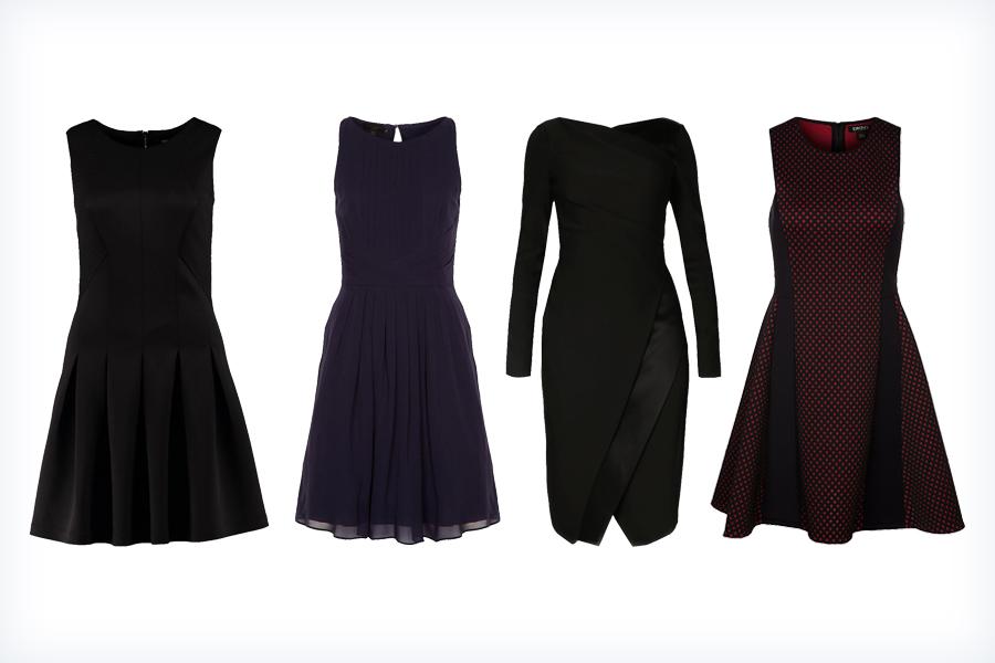 Czarne, krótkie klasyczne sukienki na studniówkę