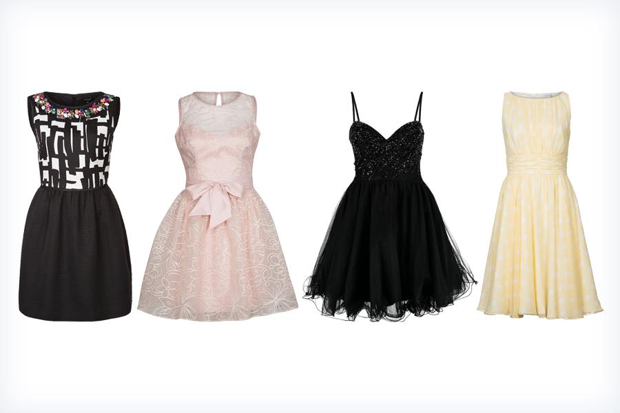 Modne, krótkie sukienki na wesele