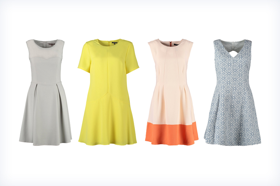 Stylowe, damskie krótkie sukienki trapezowe
