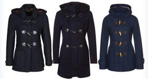Trzy, ciemne kurtki marynarskie