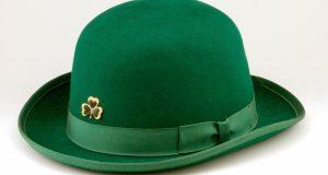 Damski mały zielony kapelusz