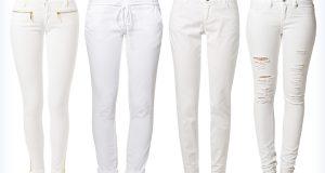 Markowe damskie białe spodnie