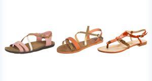 Damskie sandały - różowe, pomarańczowe, czerwone