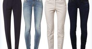 Damskie spodnie do koszuli