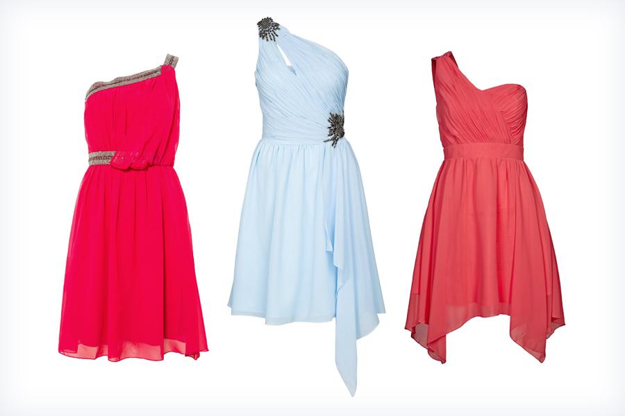 Letnie młodzieżowe sukienki na jedno ramię