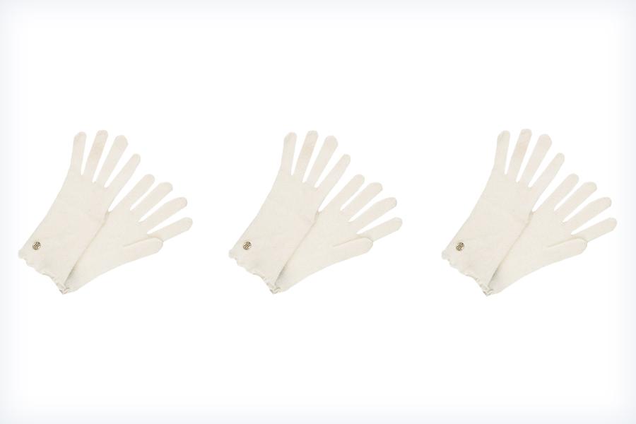 Damskie białe rękawiczki