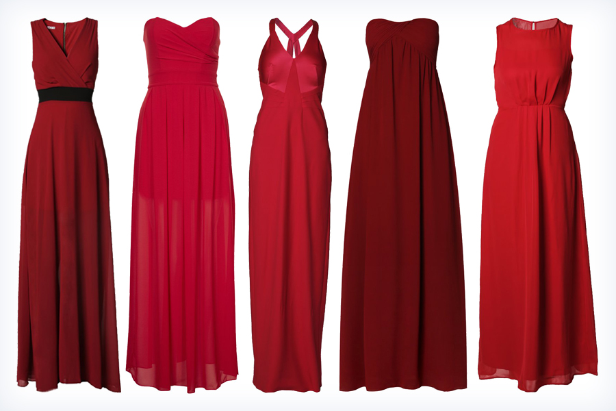 Długie czerwone sukienki na wesele