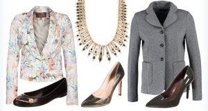 Modne dodatki do czarnej sukienki - buty, marynarki i biżuteria