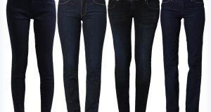Damskie granatowe jeansy