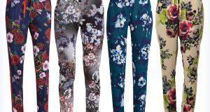 Spodnie w kolorowe kwiaty
