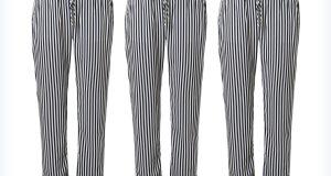 Damskie spodnie w paski