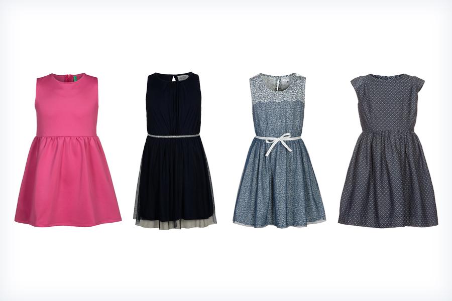 Cztery markowe sukienki dla dzieci