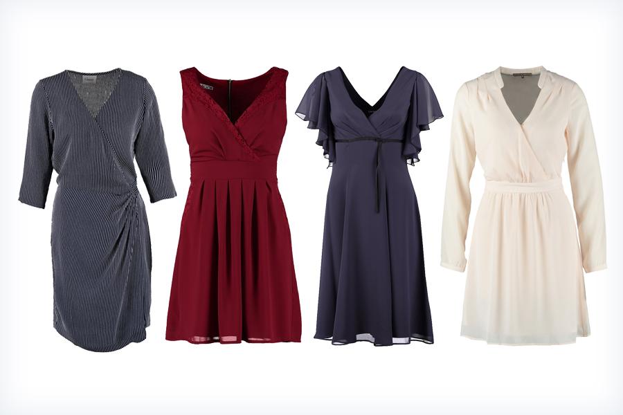 Damskie modne sukienki kopertowe